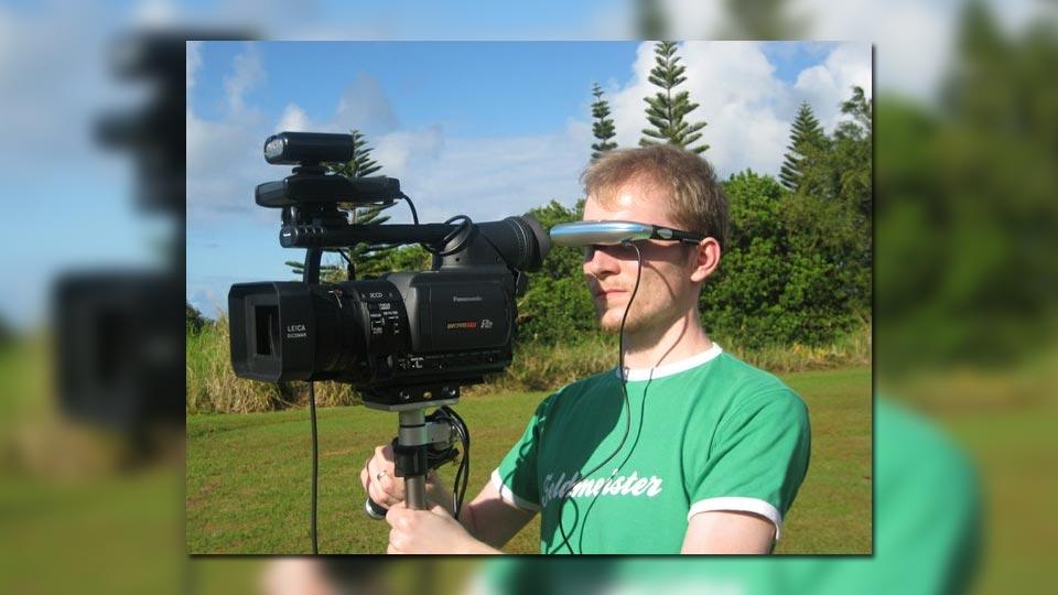 Ralf Biebeler war verantwortlicher Kameramann bei der Filmproduktion auf Hawaii.