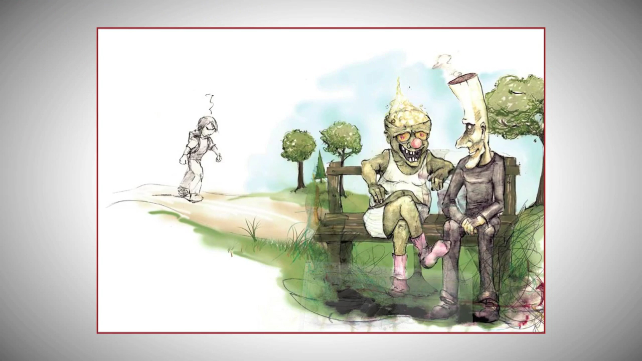Die Illustrationen wurden von uns später in den Film eingeschnitten.