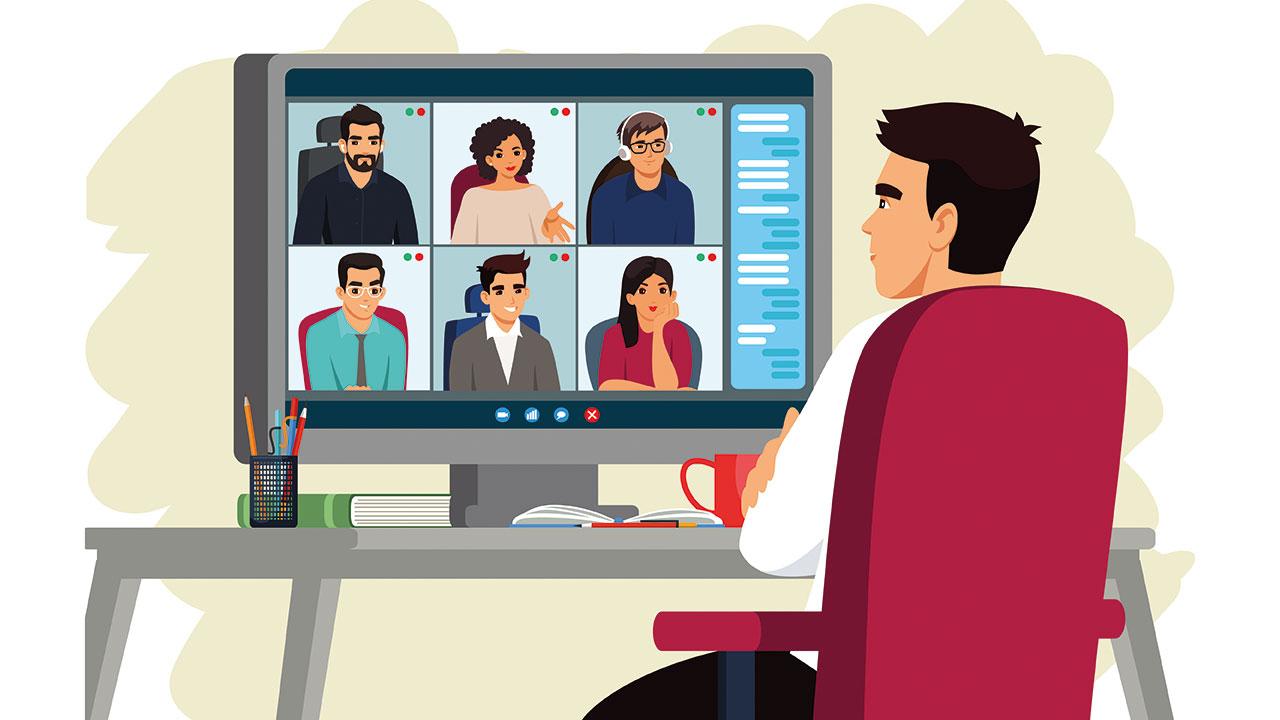 Bei mehr als 5 Teilnehmern wird es schnell unübersichtlich bei Zoom Konferenzen.