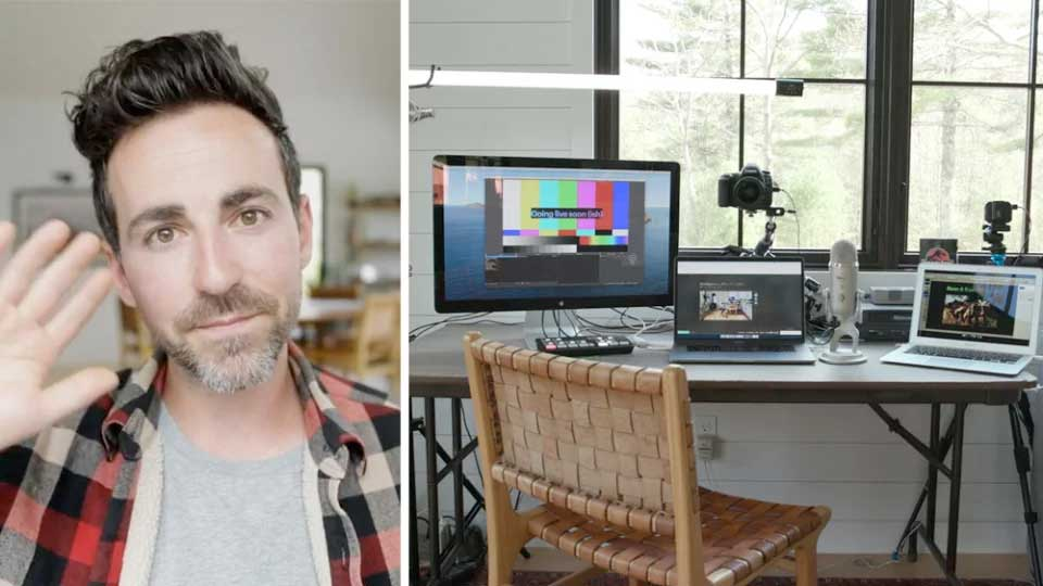 Chris Lavigne von Wistia zeigt Ihnen, welche Technik Sie brauchen. Bildquelle: https://wistia.com/learn/production/how-to-build-a-multi-camera-live-streaming-setup