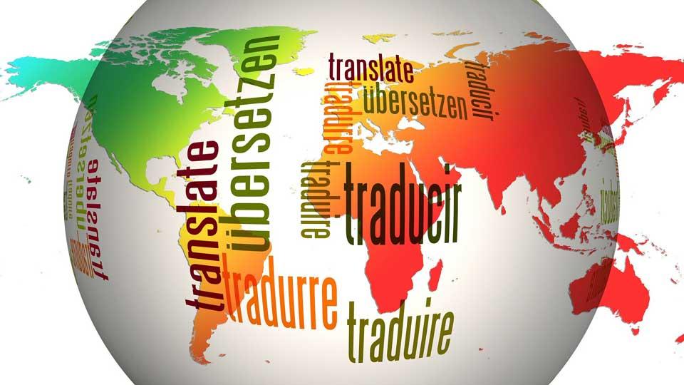 Das Portfolio an Sprachen, in welche die Pioniere synchronisieren, ist riesig. Bildquelle: https://pixabay.com/de/illustrations/globus-welt-sprachen-übersetzen-110775/