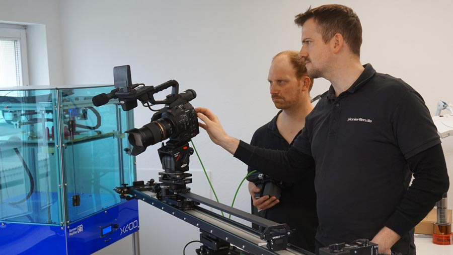 Der Dreh zum Imagefilm fand in verschiedenen Bereichen statt.