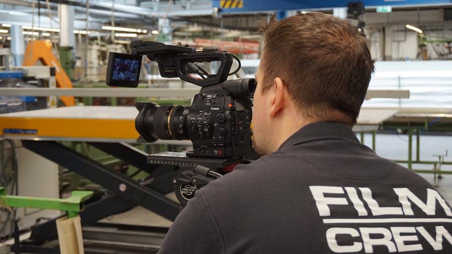 Brian Morrison dreht für den Imagefilm für GEHR.
