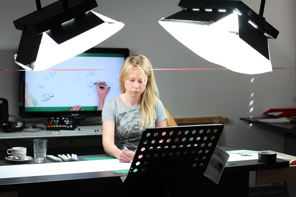 Der Illustrationsfilm für das Fraunhofer Institut wurde in unserem Studio gedreht.