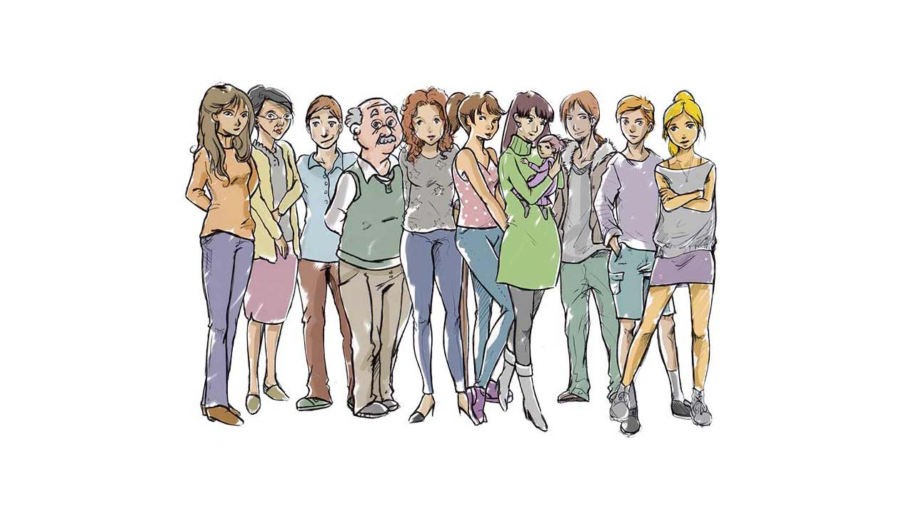 Illustration für den Animationsfilm der Initiative der Allianz für Beteiligung e.V.