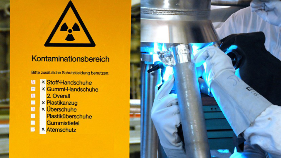 Gerade im Kernkraftwerk muss auf sehr viel geachtet werden. Nicht überall dürfen Kamerateams filmen - allein schon auf Grund der eigenen Gesundheitsgefährdung.