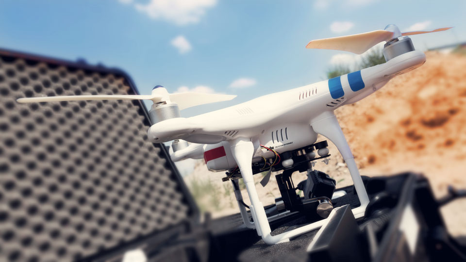 Wir produzieren Drohnenaufnahmen für Ihre Filme.