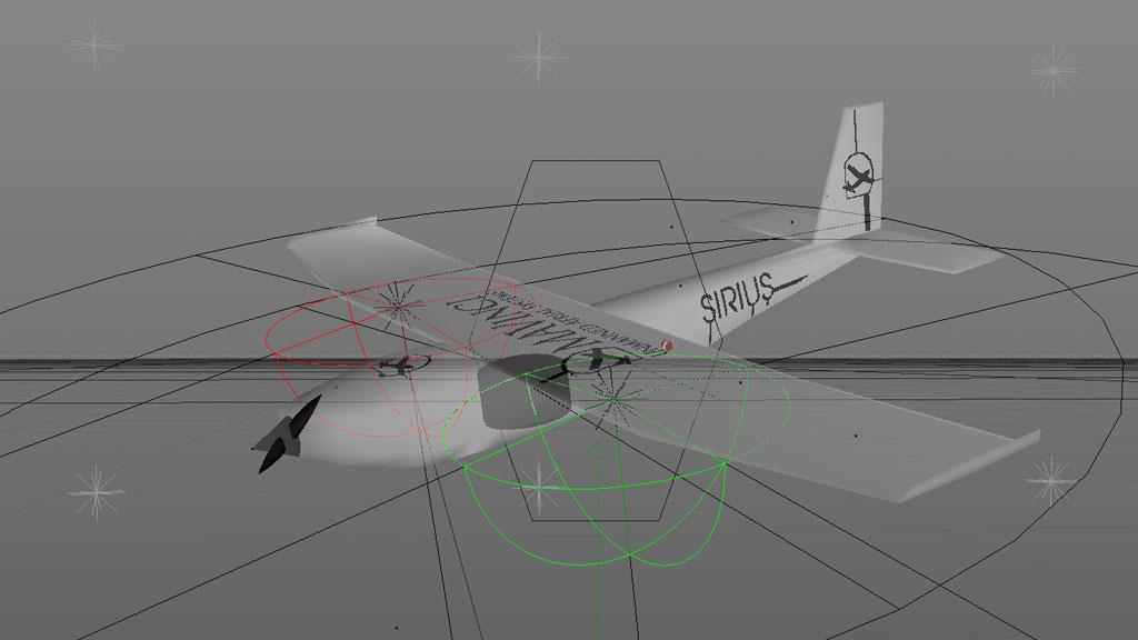 Die beinahe fertige Animation der Drohne von MAVinci.