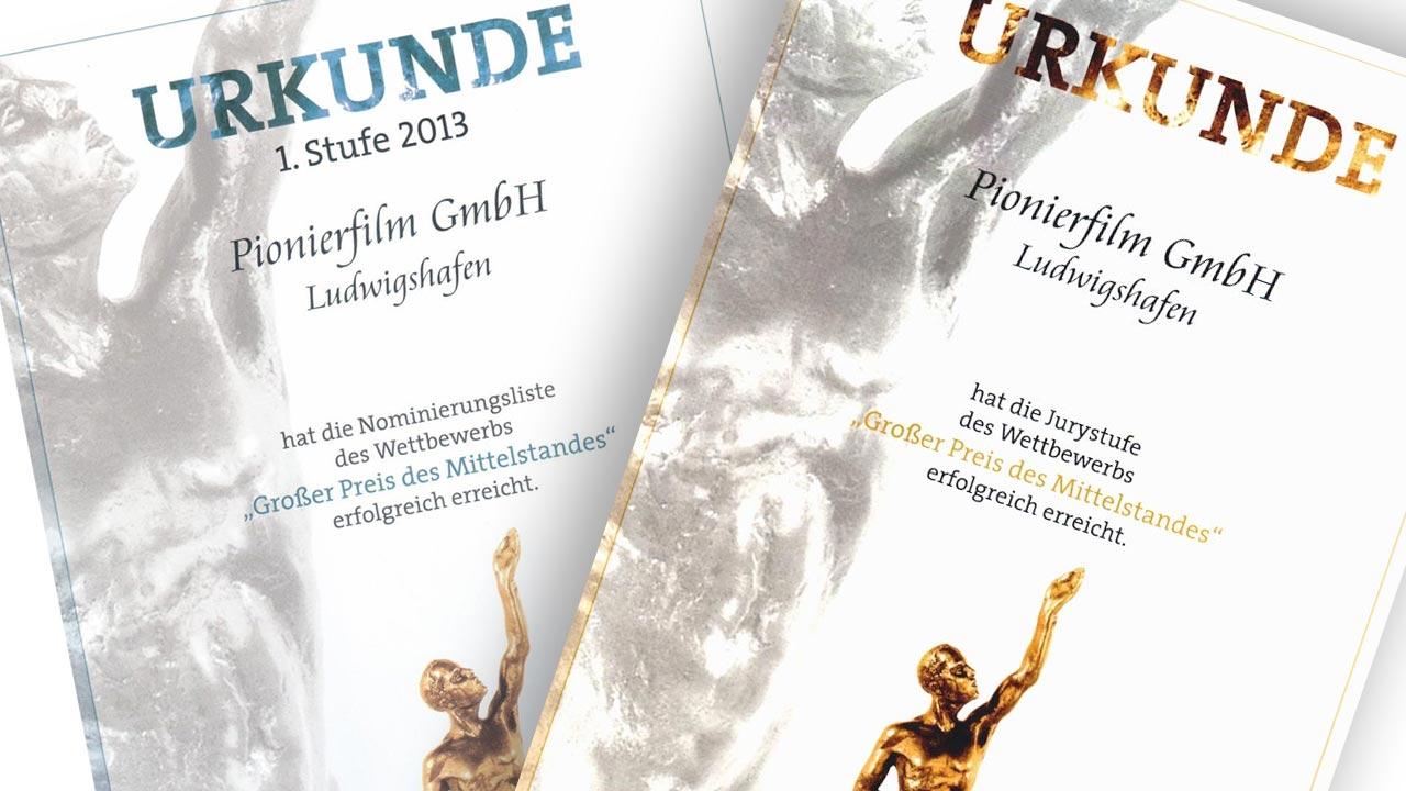 Wir sind nominiert für den Großen Preis des Mittelstandes 2013.