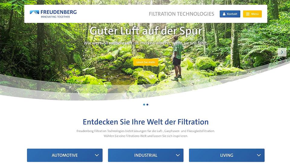 Film für Webseite von Freudenberg Filtration Technologies erstellt.