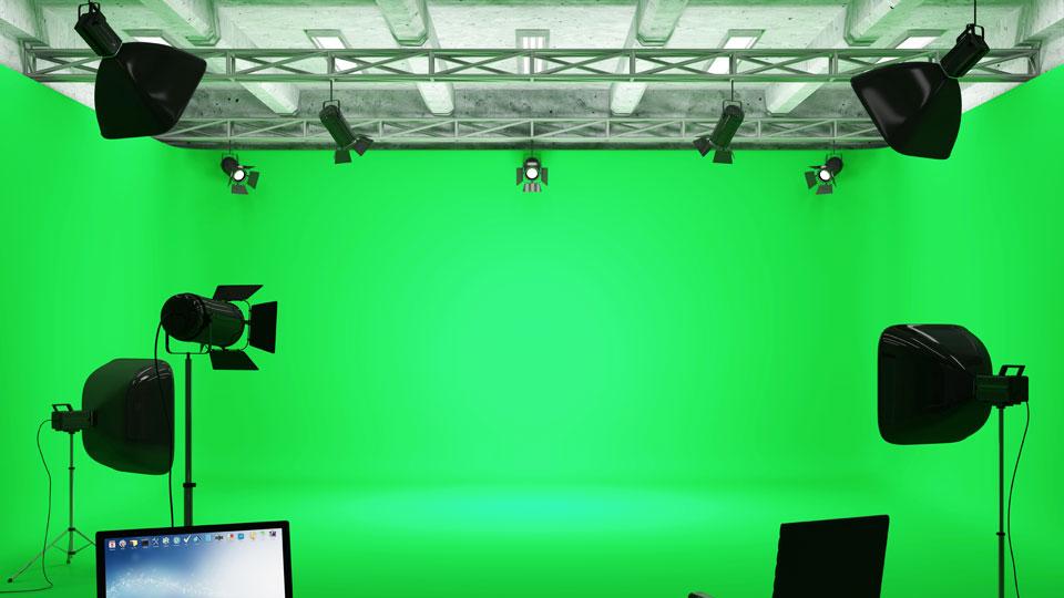 Wie funktioniert ein Greenscreen? Die Antwort gibt es hier.