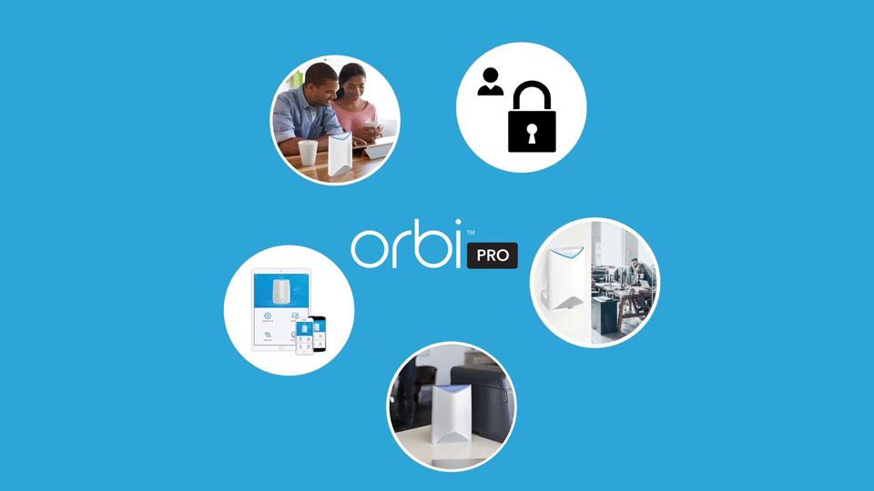 Französischer Produktfilm für NETGEAR Orbi Pro erstellt.