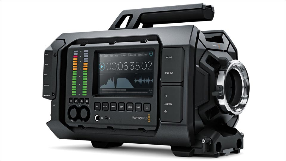 Die Blackmagicdesign URSA ist unsere fest installierte 4K Studiokamera.