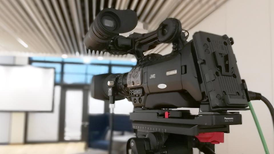 DAS Filmteam für Mannheim, Heidelberg und Umgebung arbeitet sowohl als EB Team, als auch als komplette Filmcrew. Hier zu sehen bei einem Einsatz in Weinheim.