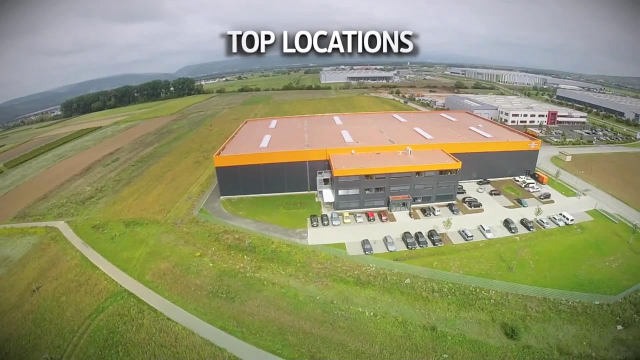 Luftaufnahmen eines tschechischen Industrieparks.