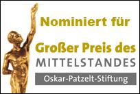 Auch 2014 waren wir wieder nominiert für Deutschlands wichtigsten Mittelstandspreis.