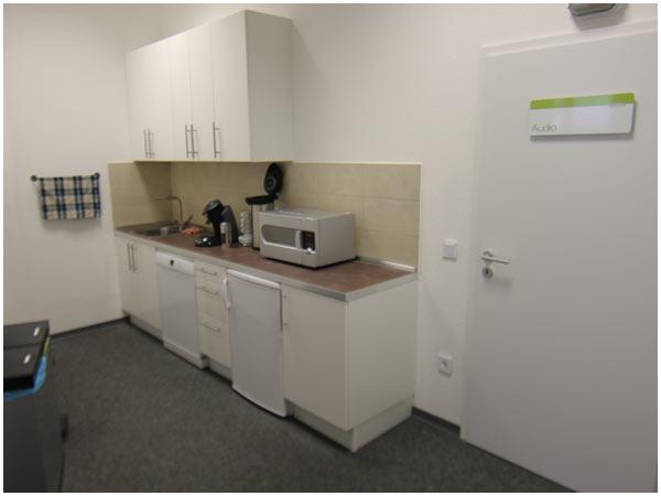Unser Studio verfügt über eine eigene Küche.