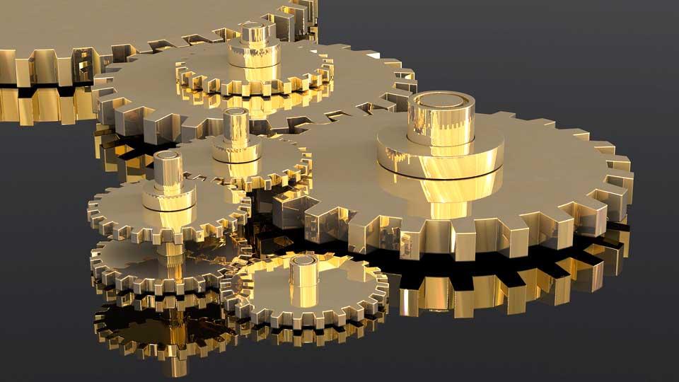 Das Synchronteam muss bei der Lippensynchronisation Hand und Hand arbeiten für ein perfektes Ergebnis. Bildquelle: https://pixabay.com/de/illustrations/zahnräder-getriebe-rad-maschine-2125180/