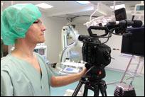 Kamerateam im OP des Krankenhauses Ludwigsburg.