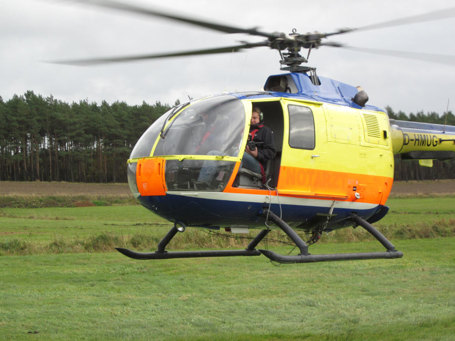 Ein spannenderes Bild lieferte natürlich dieser Helikopterflug.